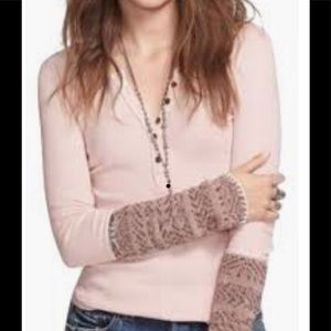 Free People Sz Small Alpine Cuff Frosty Pink